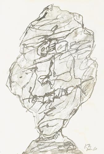 Jean Dubuffet-Tete-1960