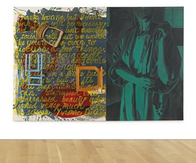 David Salle-Shower Of Courage (Diptych)-1985