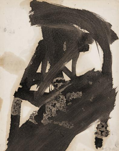 Franz Kline-Untitled (Study For Hewn Forms)-1958