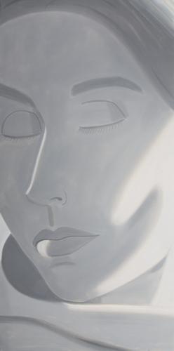 Alex Katz-Eyes Closed (Grisaille)-2004