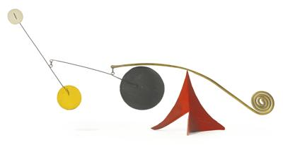 Alexander Calder-Discs And Spiral On Red-1960