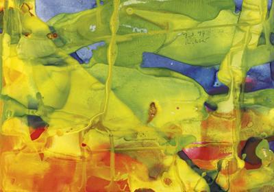 Gerhard Richter-Gelbgrunes S. (7.3.97)-1997