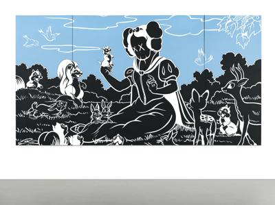 KAWS-In The Woods (Triptych)-2002