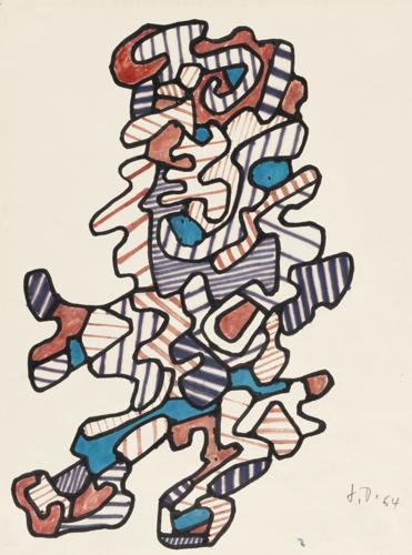 Jean Dubuffet-Personnage XXIII-1964