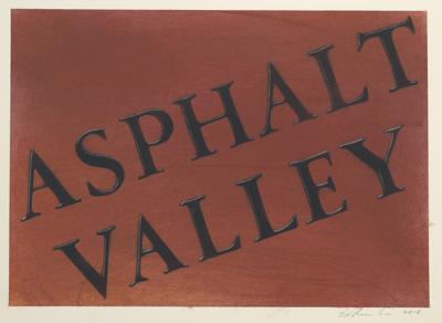 Ed Ruscha-Asphalt Valley #2-2015