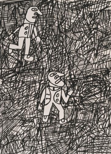 Jean Dubuffet-Paysage Avec 2 Personnages-1980