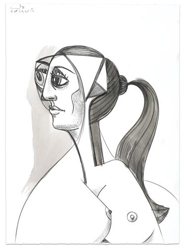 George Condo-Female Profile-2015
