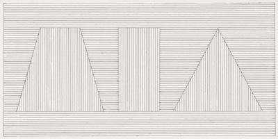 Sol LeWitt-Trapezoid, Rectangle, Triangle With Lines In Two Directions-1981
