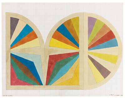 Frank Stella-Gur III (Sketch)-1966