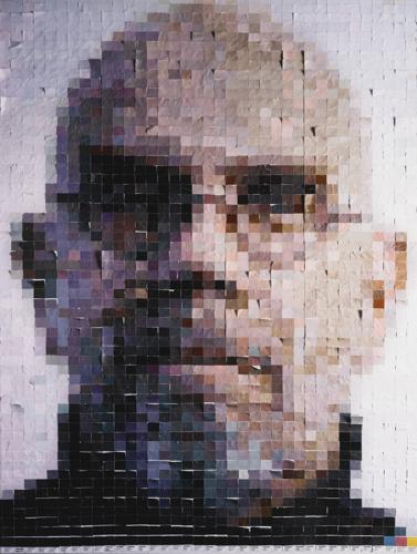 Vik Muniz-Chuck (From Pictures Of Color)-2001