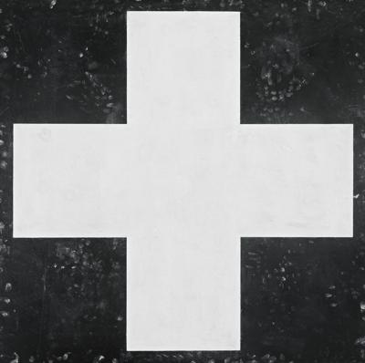 Robert Moskowitz-Red Cross (White On Black)-1986
