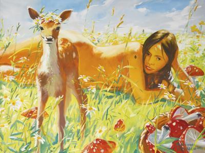 Vladimir Dubossarsky and Alexander Vinogradov-Untitled (Woman And Deer)-2001