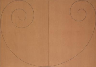 Robert Mangold-Curled Figure II-2000