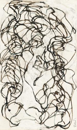 Brice Marden-Stele Drawing 9-2008
