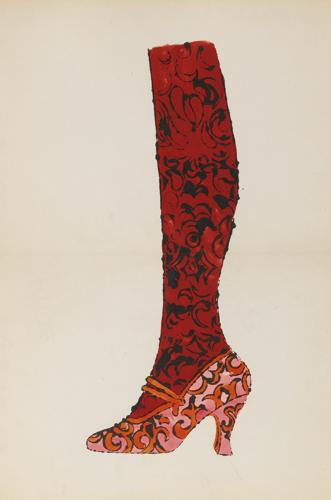Andy Warhol-Untitled (Leg And Shoe)-1955