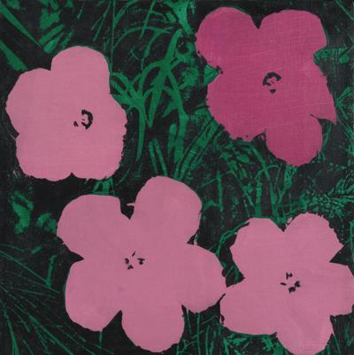 Elaine Sturtevant-Study For Warhol Flowers-1971