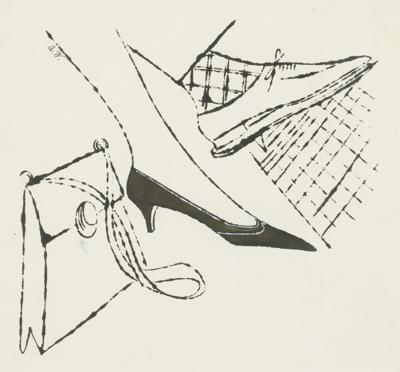 Andy Warhol-Feet And Purse-1957