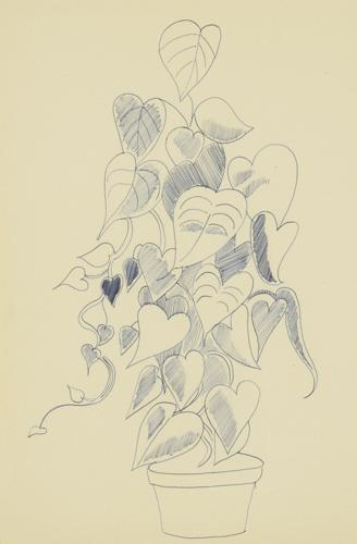 Andy Warhol-Still Life (Flowers)-1956