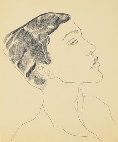 Andy Warhol-Untitled (Head Of Boy)-1956