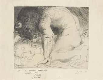 Pablo Picasso-Minotaure Caressant Une Dormeuse, From: La Suite Vollard-1934