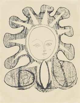 Pablo Picasso-Francoise En Soleil-1946