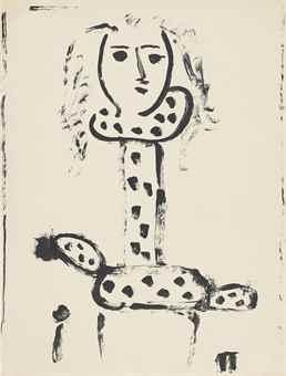 Pablo Picasso-Femme Au Fauteuil-1948