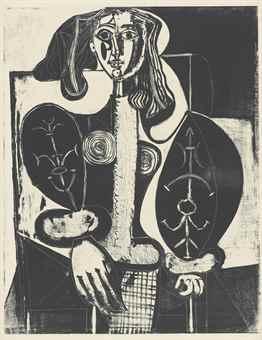 Pablo Picasso-Femme Au Fauteuil No. 1 (D'Apres Le Rouge)-1948