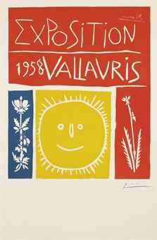 Pablo Picasso-Exposition 1958 Vallauris-1958