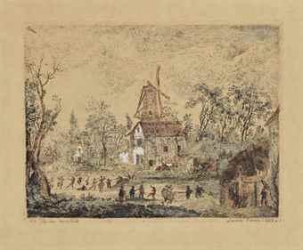 James Ensor-La Kermesse Au Moulin-1889