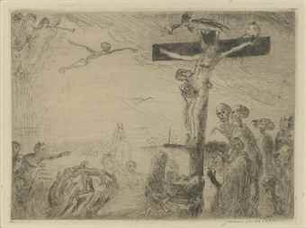 James Ensor-Le Christ Agonisant-1895
