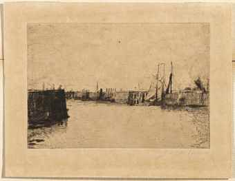 James Ensor-(i) L'Estacade A Ostende; (ii) La Ferme flamande-1888