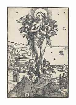 Albrecht Durer-The Elevation Of Saint Mary Magdalene-1505