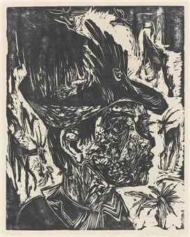 Ernst Ludwig Kirchner-Ziegenhirt-1918