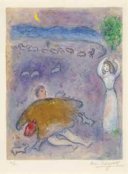 Marc Chagall-La Ruse De Dorcon, From: Daphnis Et Chloe-1961