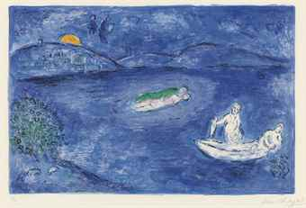 Marc Chagall-Lecho (Echo), Pl. 33 From Daphnis Et Chloe-1961