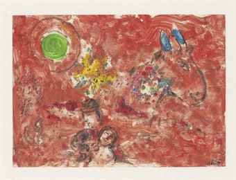 Marc Chagall-Paysage Rouge-1974