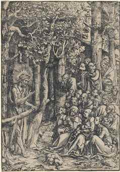 Lucas Cranach The Elder-Saint John Preaching In The Wilderness-1516