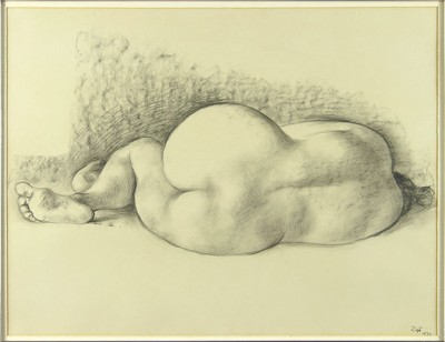 Francisco Zuniga-Reclining Female Nude-1970
