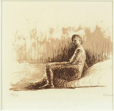 Henry Moore-Resting Girl-1974