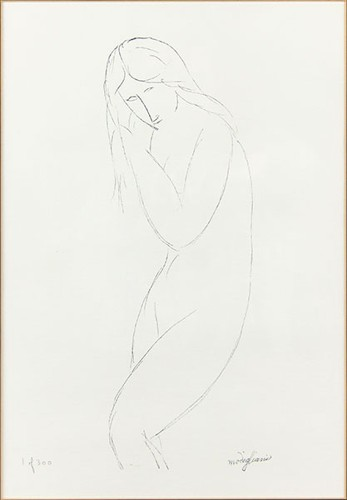 Amedeo Modigliani-After Amedeo Modigliani - Nude Figure-