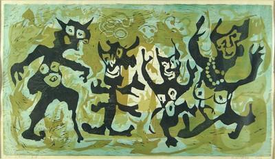 Heidi Bak-Dancing Figures-1966