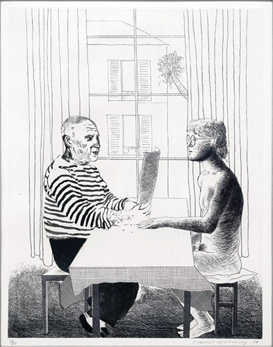 David Hockney-Artist and Model-1974