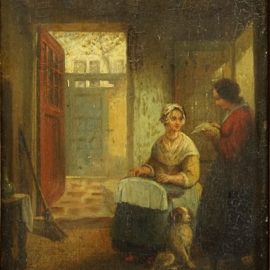 Emmanuel Noterman-Interior with Two Women