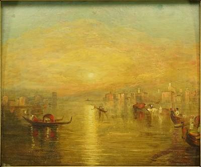 School of Joseph Mallord William Turner RA - Venice Lagoon-