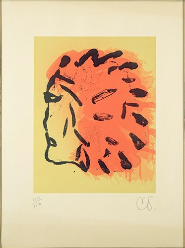 Claes Oldenburg-Indian Head from the 'Peace Portfolio'-