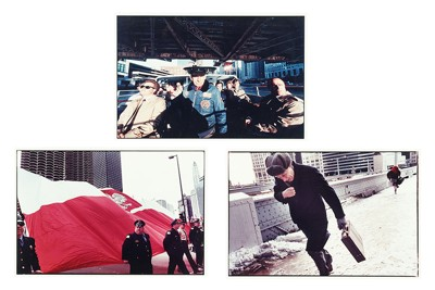 Bruce Davidson-Three Works: 'Polish Day Parade', 'Crossing the Wabash', and 'Morning Commuters'-1990