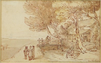 Thomas Rowlandson-House By The Stream-1808