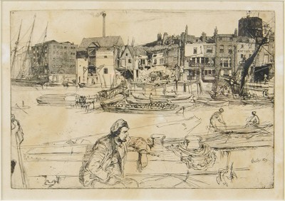 James Abbott McNeill Whistler-Black Lion Wharf-1859