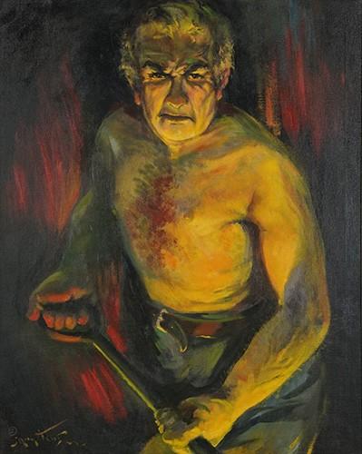 Josef Pierre Nuyttens - Self-Portrait as a Steel Worker-1942