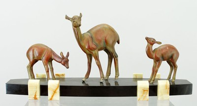 Irene Rochard-Deer and Fawns-
